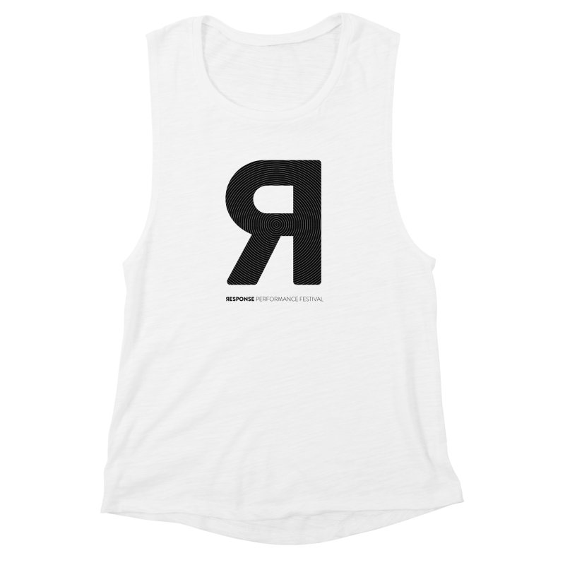 Response Performance Festival - black logo Women's Muscle Tank by Torn Space Theater Merch