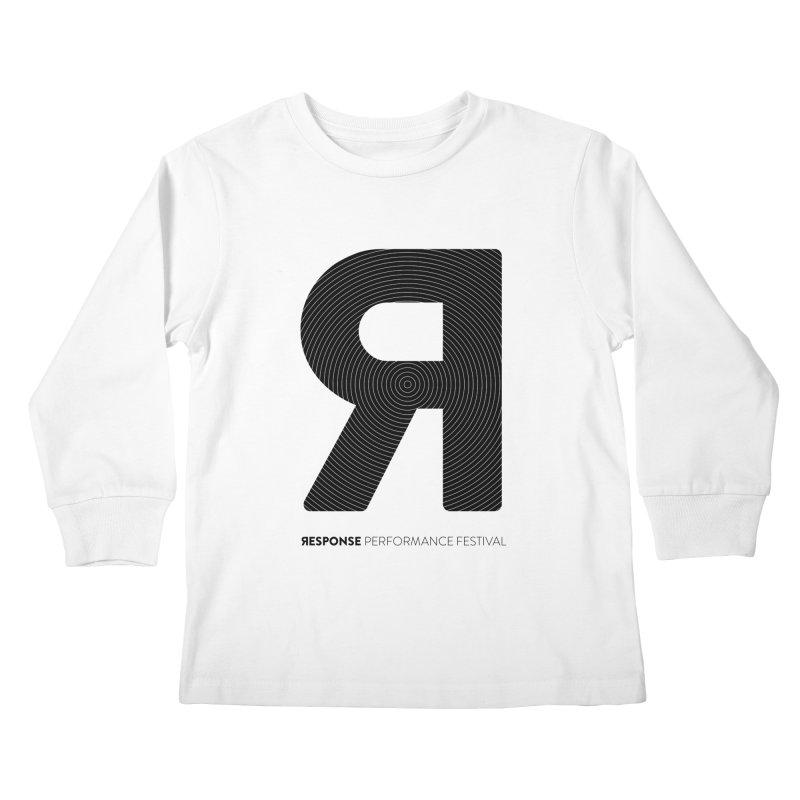 Response Performance Festival - black logo Kids Longsleeve T-Shirt by Torn Space Theater Merch