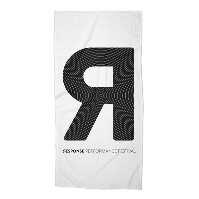 Response Performance Festival - black logo Accessories Beach Towel by Torn Space Theater Merch