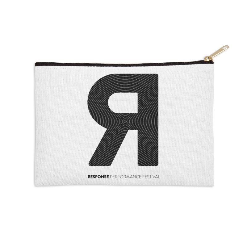 Response Performance Festival - black logo Accessories Zip Pouch by Torn Space Theater Merch