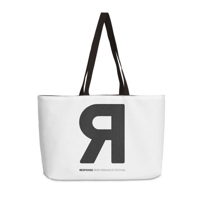 Response Performance Festival - black logo Accessories Weekender Bag Bag by Torn Space Theater Merch