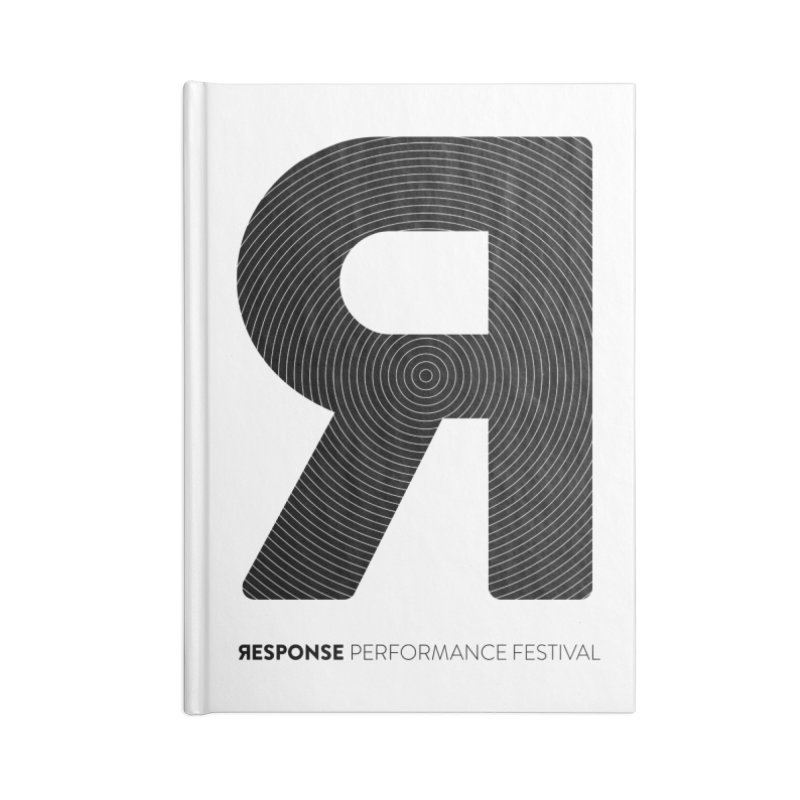 Response Performance Festival - black logo Accessories Lined Journal Notebook by Torn Space Theater Merch