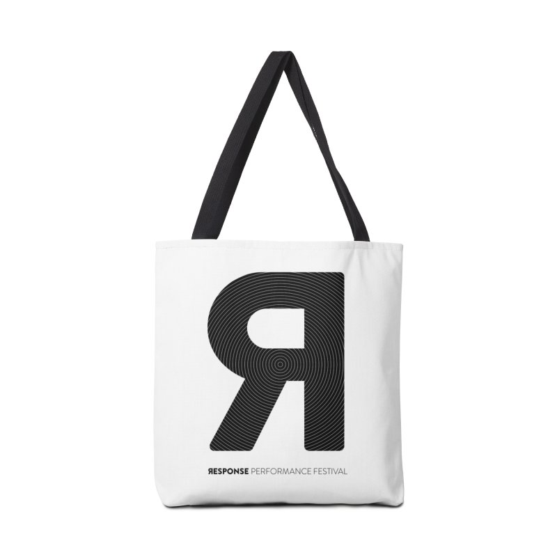 Response Performance Festival - black logo Accessories Bag by Torn Space Theater's Artist Shop