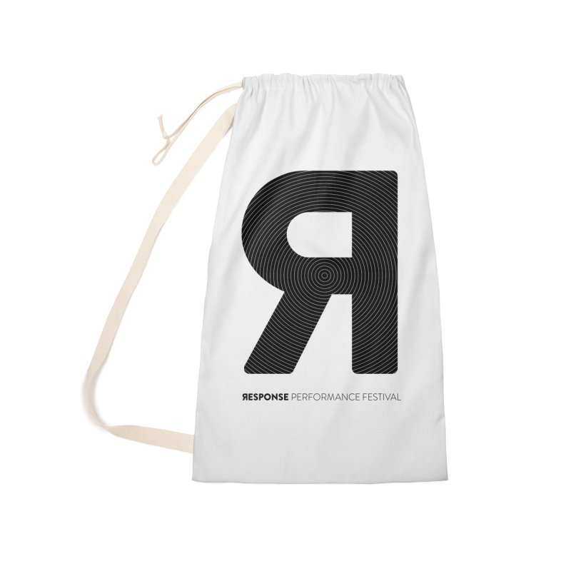 Response Performance Festival - black logo Accessories Laundry Bag Bag by Torn Space Theater Merch