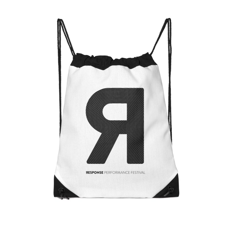 Response Performance Festival - black logo Accessories Drawstring Bag Bag by Torn Space Theater Merch