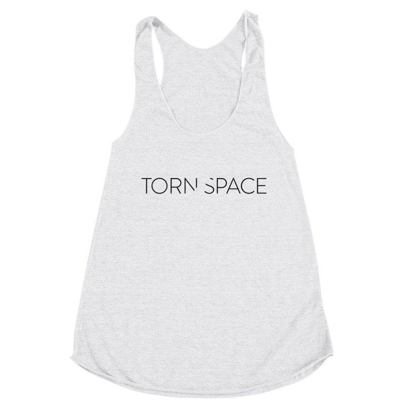 Torn Space Black Logo Women's Racerback Triblend Tank by Torn Space Theater Merch