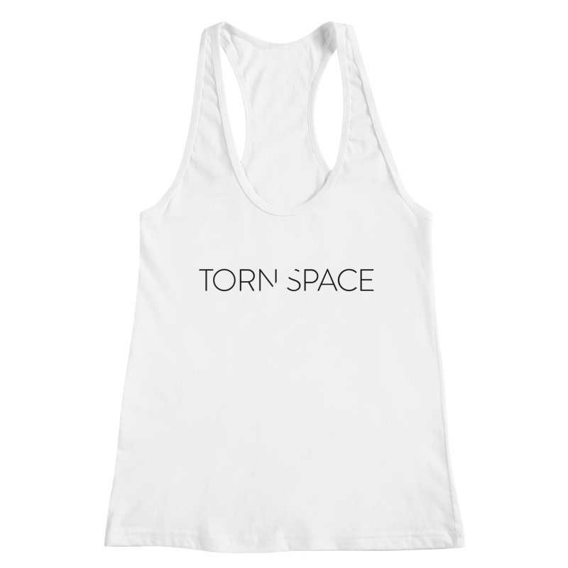 Torn Space Black Logo Women's Racerback Tank by Torn Space Theater Merch