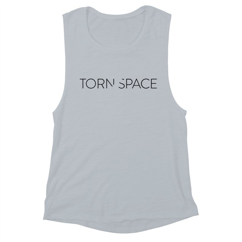 Torn Space Black Logo Women's Muscle Tank by Torn Space Theater Merch