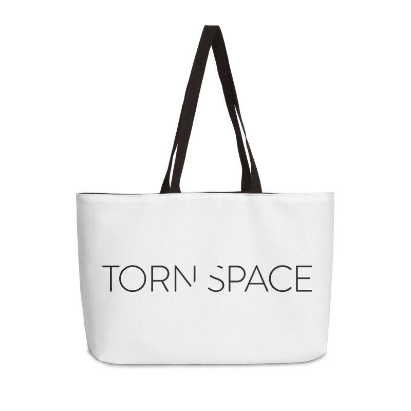 Torn Space Black Logo Accessories Weekender Bag Bag by Torn Space Theater Merch