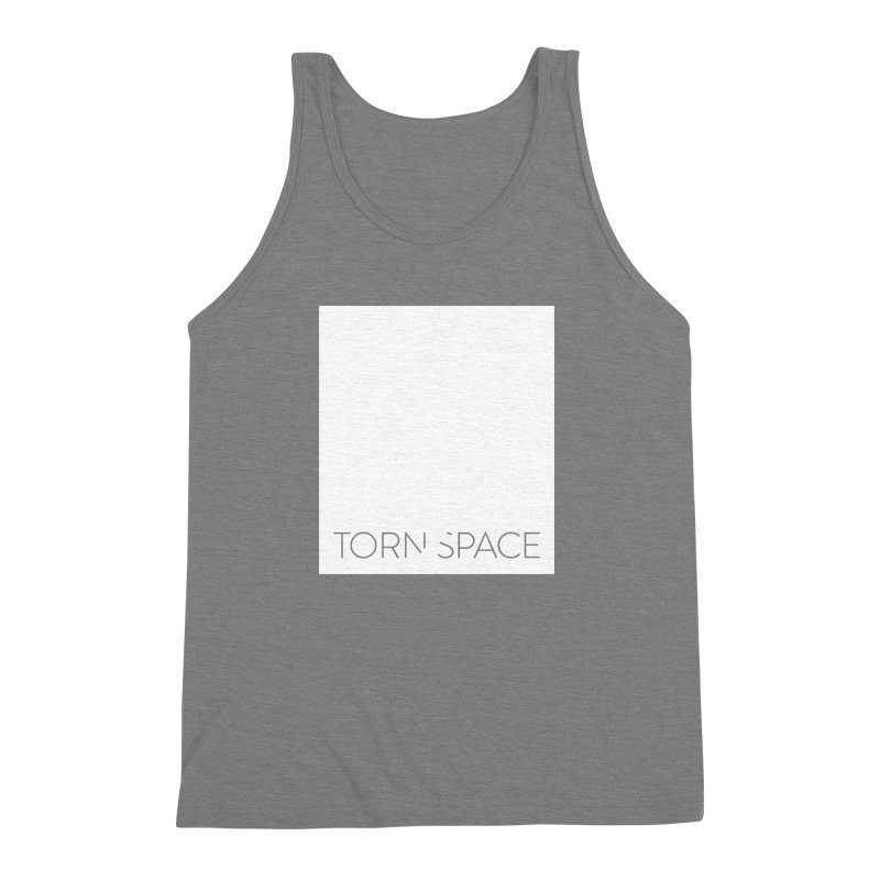 Torn Space - White Field Men's Triblend Tank by Torn Space Theater Merch
