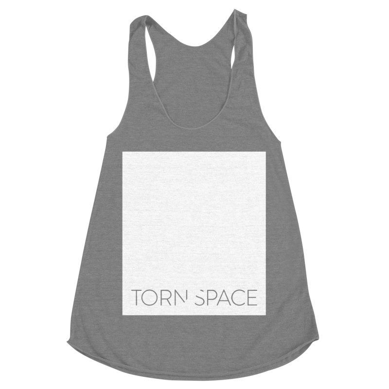 Torn Space - White Field Women's Racerback Triblend Tank by Torn Space Theater Merch
