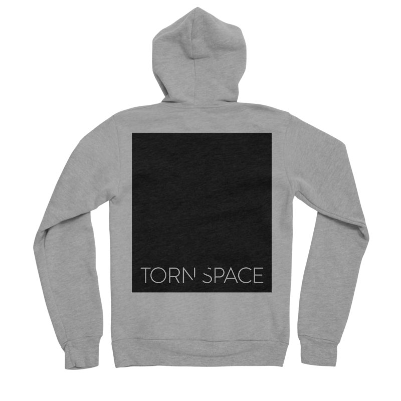 Torn Space - Black Field Men's Sponge Fleece Zip-Up Hoody by Torn Space Theater Merch