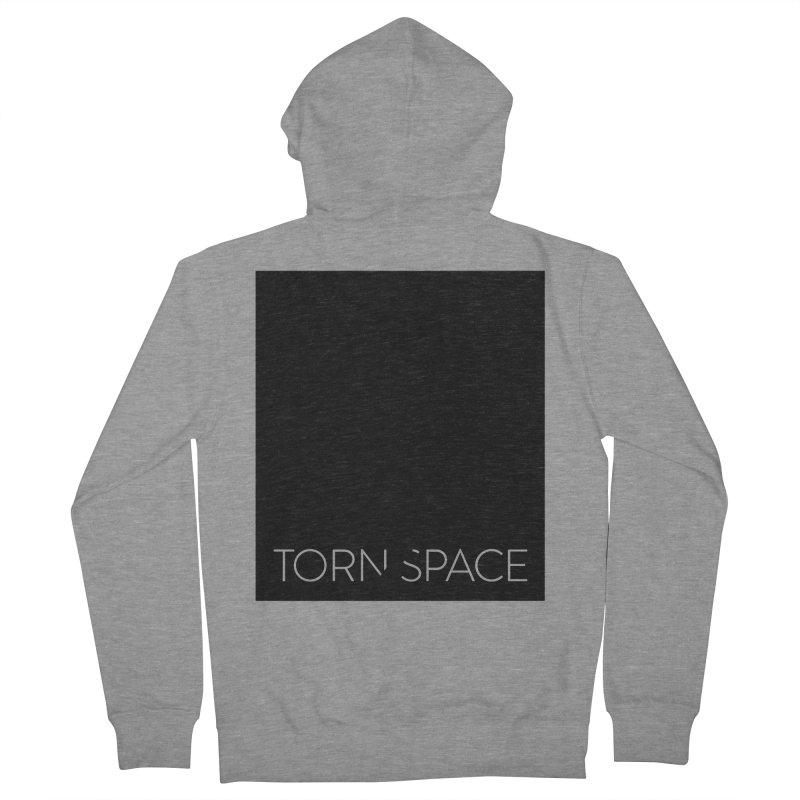 Torn Space - Black Field Men's French Terry Zip-Up Hoody by Torn Space Theater Merch