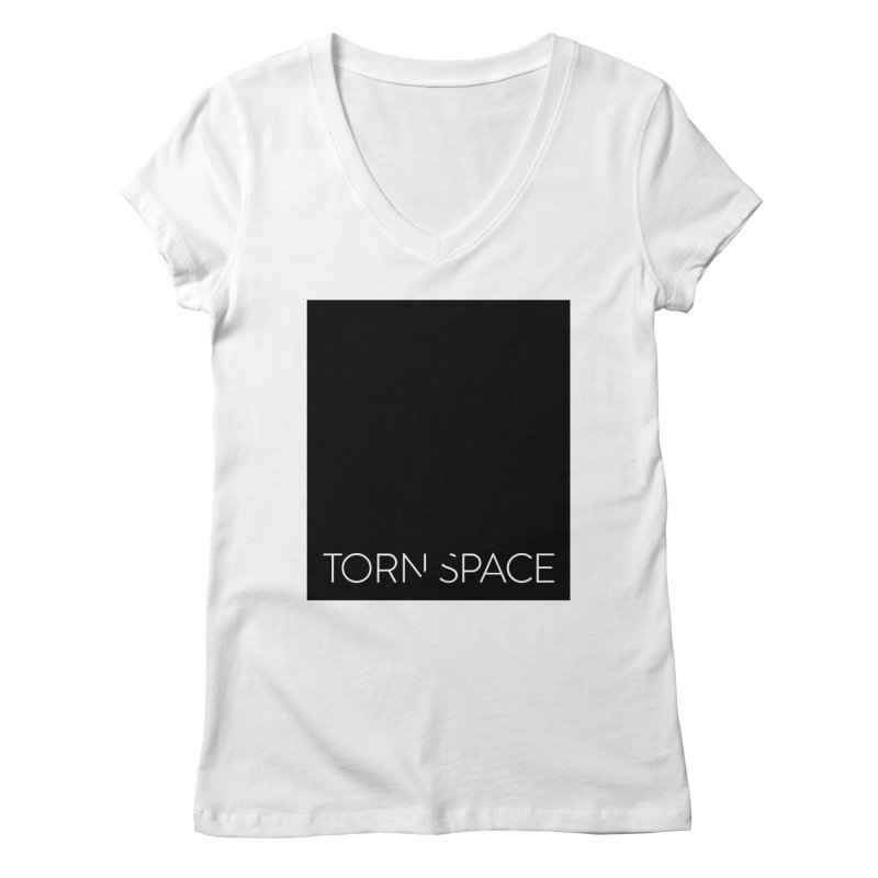 Torn Space - Black Field Women's Regular V-Neck by Torn Space Theater Merch