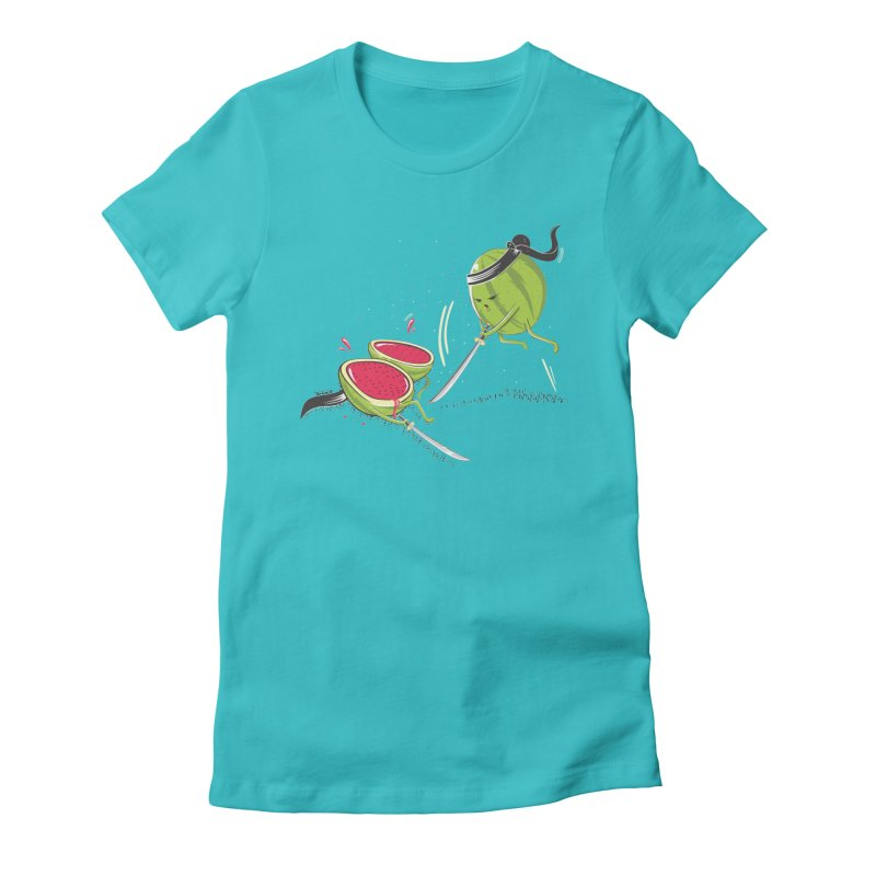 the ninjas  Women's Fitted T-Shirt by torquatto's Artist Shop
