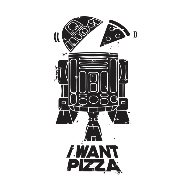 I Want pizza Men's T-Shirt by torquatto's Artist Shop
