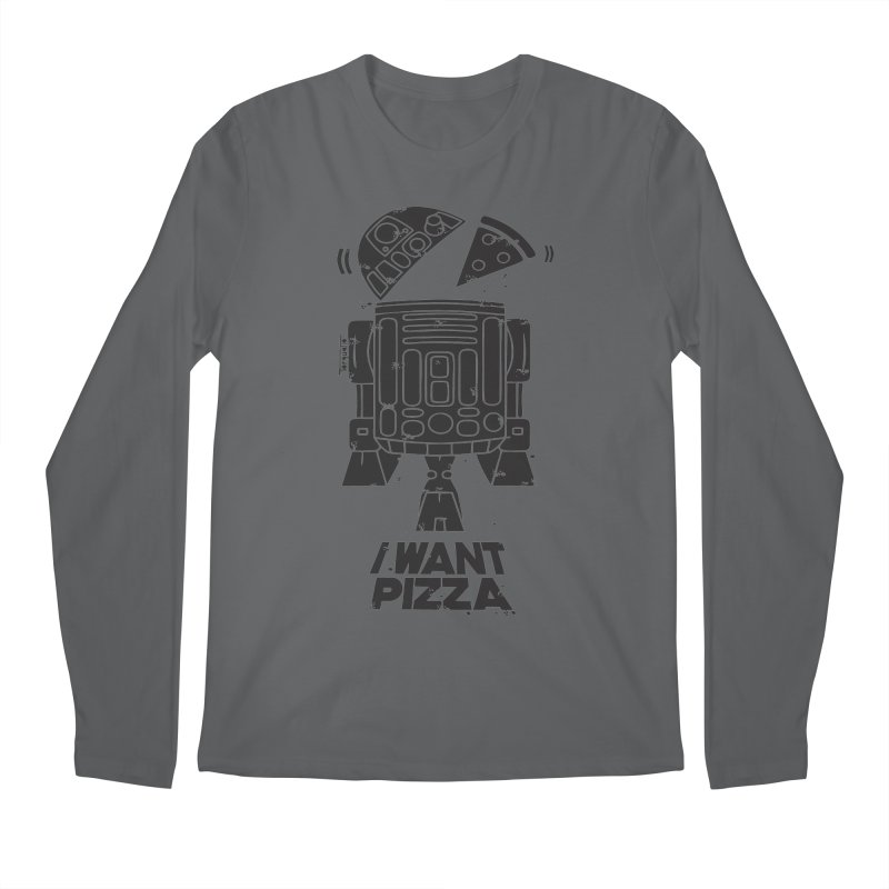 I Want pizza Men's Longsleeve T-Shirt by torquatto's Artist Shop