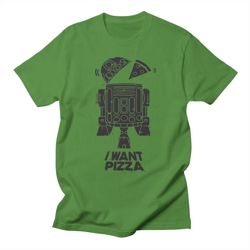 I Want pizza Women's Unisex T-Shirt by torquatto's Artist Shop