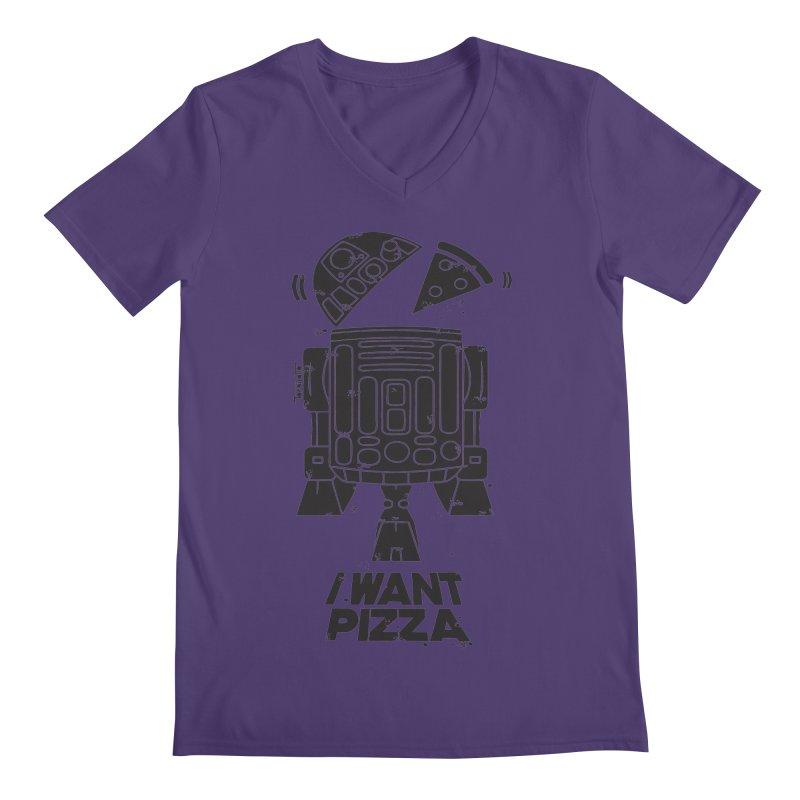 I Want pizza Men's V-Neck by torquatto's Artist Shop