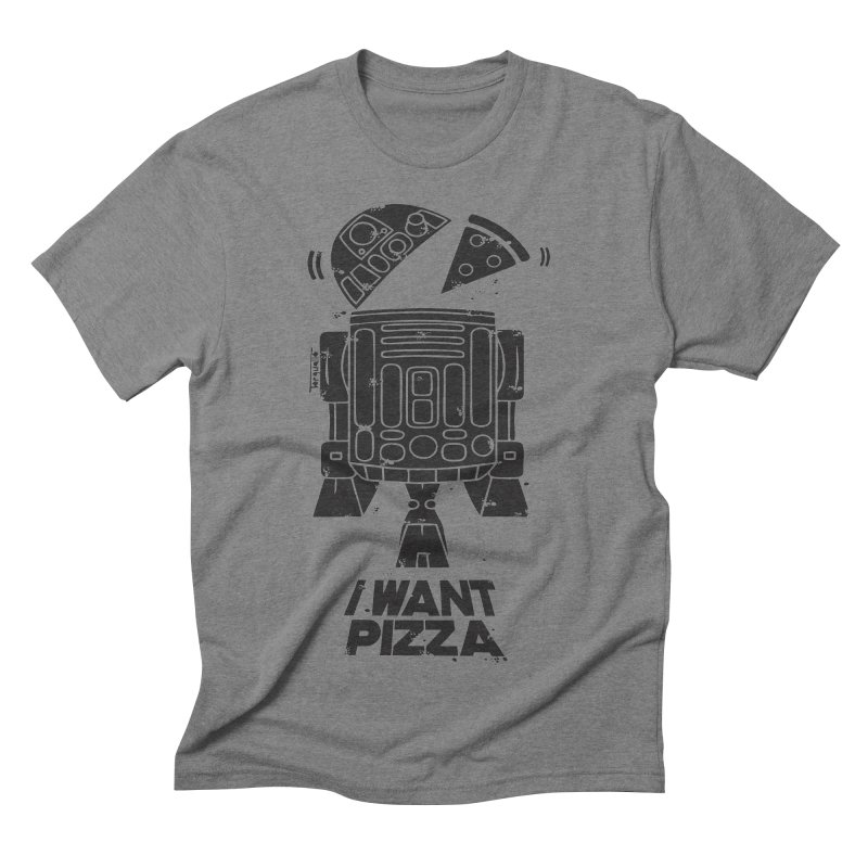 I Want pizza Men's Triblend T-shirt by torquatto's Artist Shop