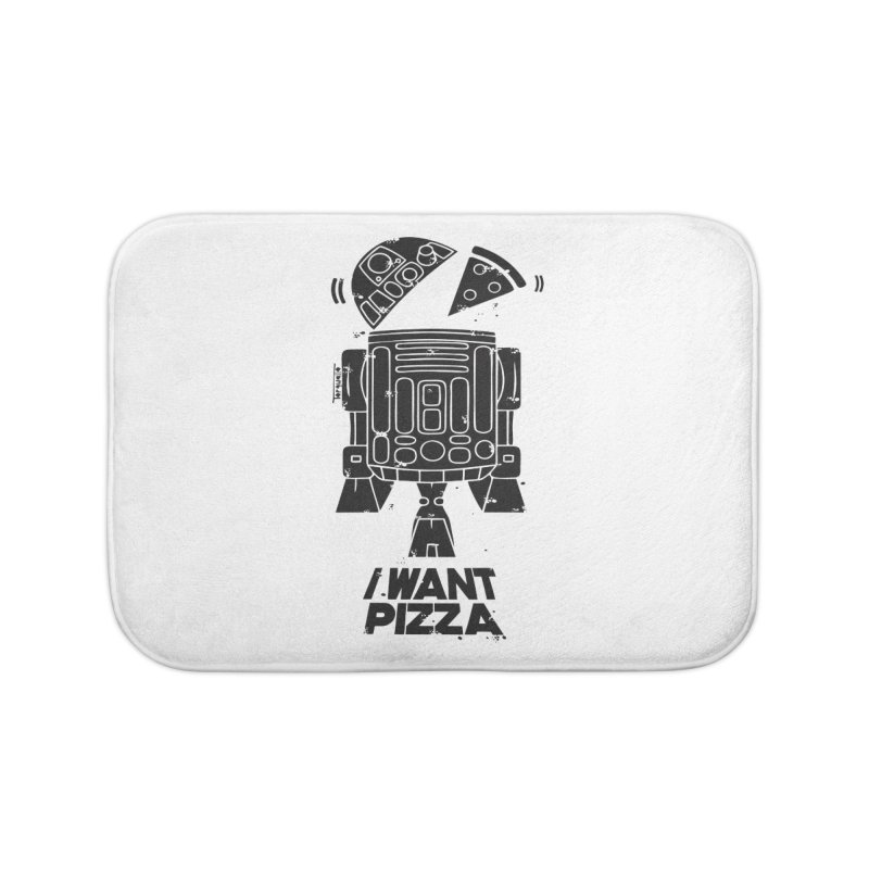 I Want pizza Home Bath Mat by torquatto's Artist Shop