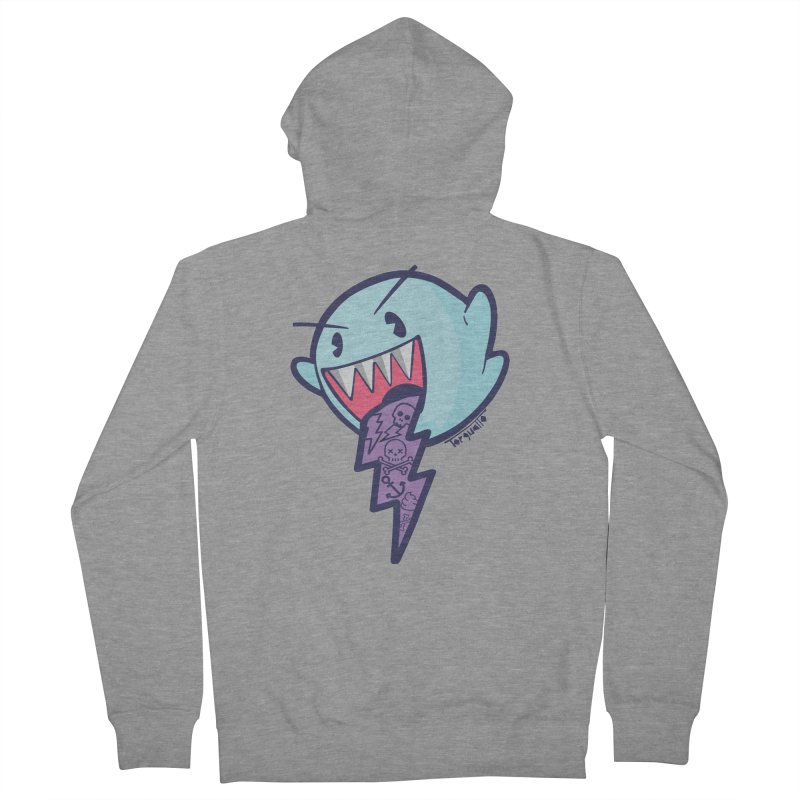 thug ghost Women's French Terry Zip-Up Hoody by torquatto's Artist Shop
