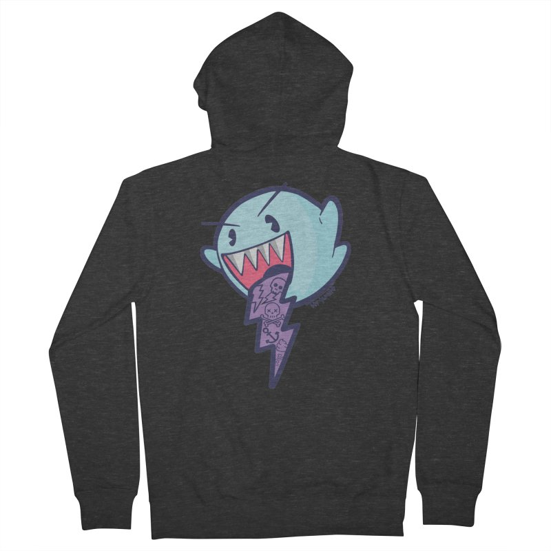 thug ghost Men's Zip-Up Hoody by torquatto's Artist Shop