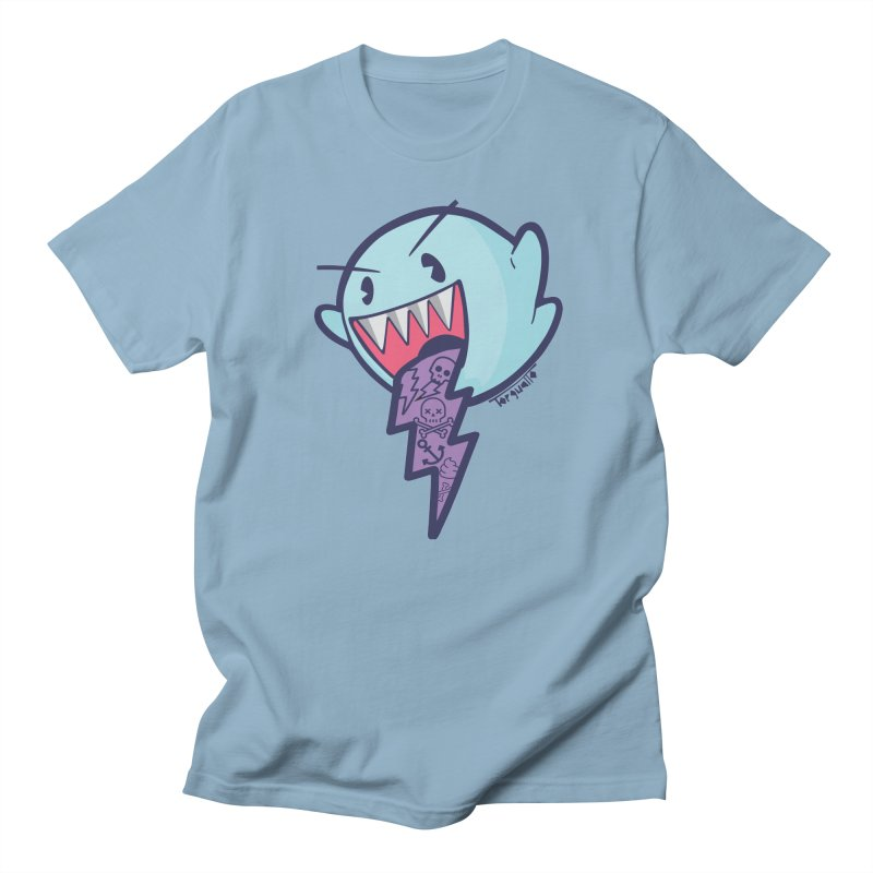 thug ghost in Men's T-Shirt Light Blue by torquatto's Artist Shop