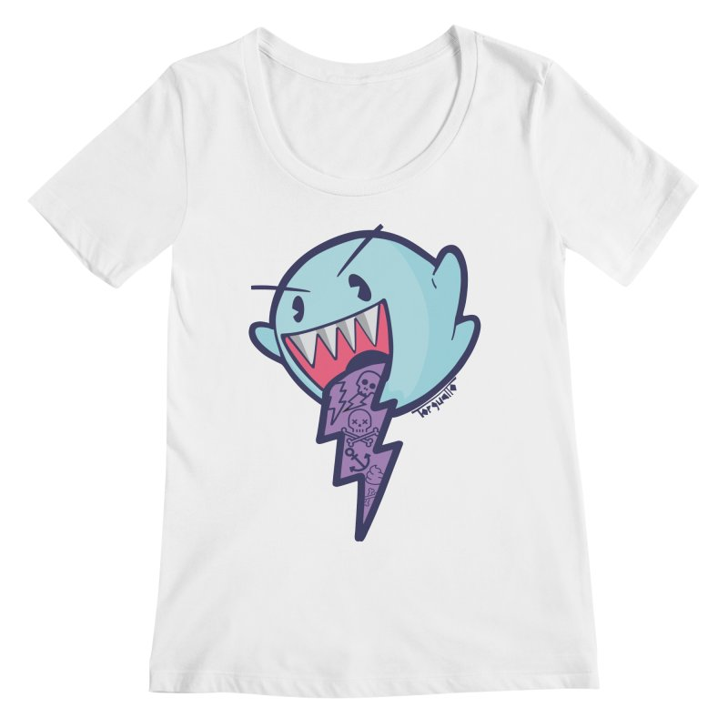 thug ghost Women's Scoopneck by torquatto's Artist Shop