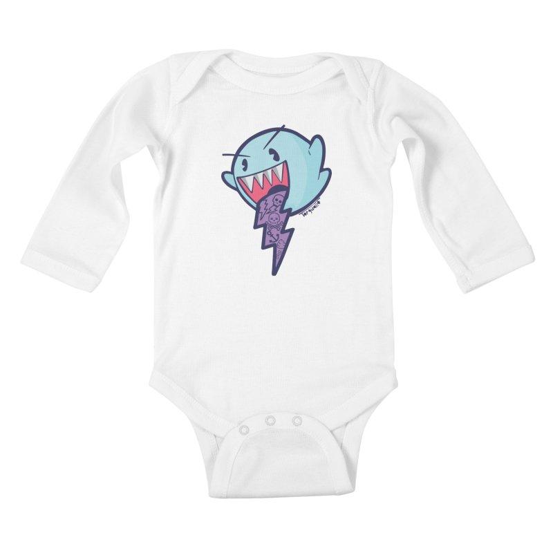 thug ghost Kids Baby Longsleeve Bodysuit by torquatto's Artist Shop