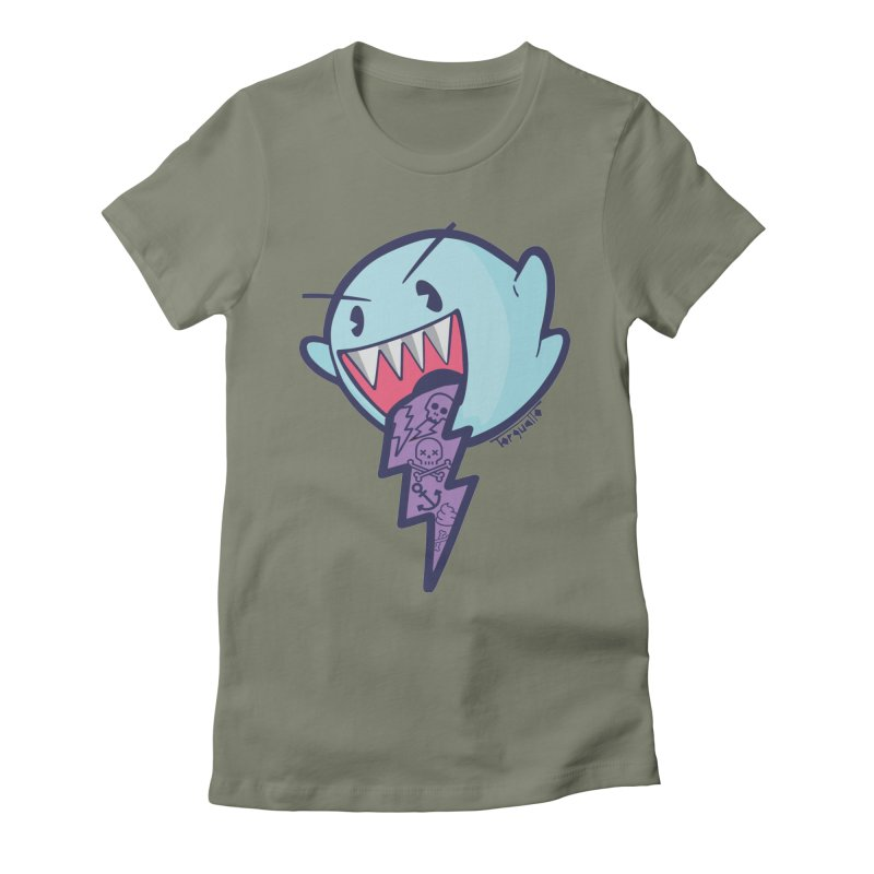 thug ghost Women's Fitted T-Shirt by torquatto's Artist Shop