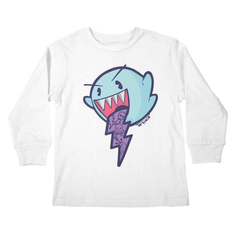 thug ghost Kids Longsleeve T-Shirt by torquatto's Artist Shop