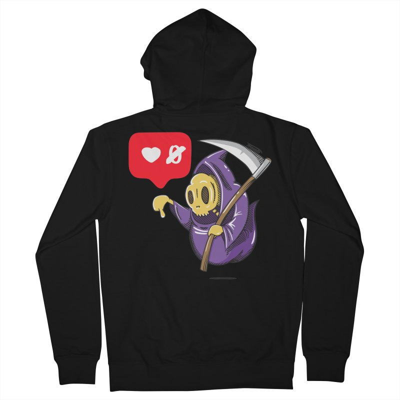 Sweet Death Men's French Terry Zip-Up Hoody by torquatto's Artist Shop