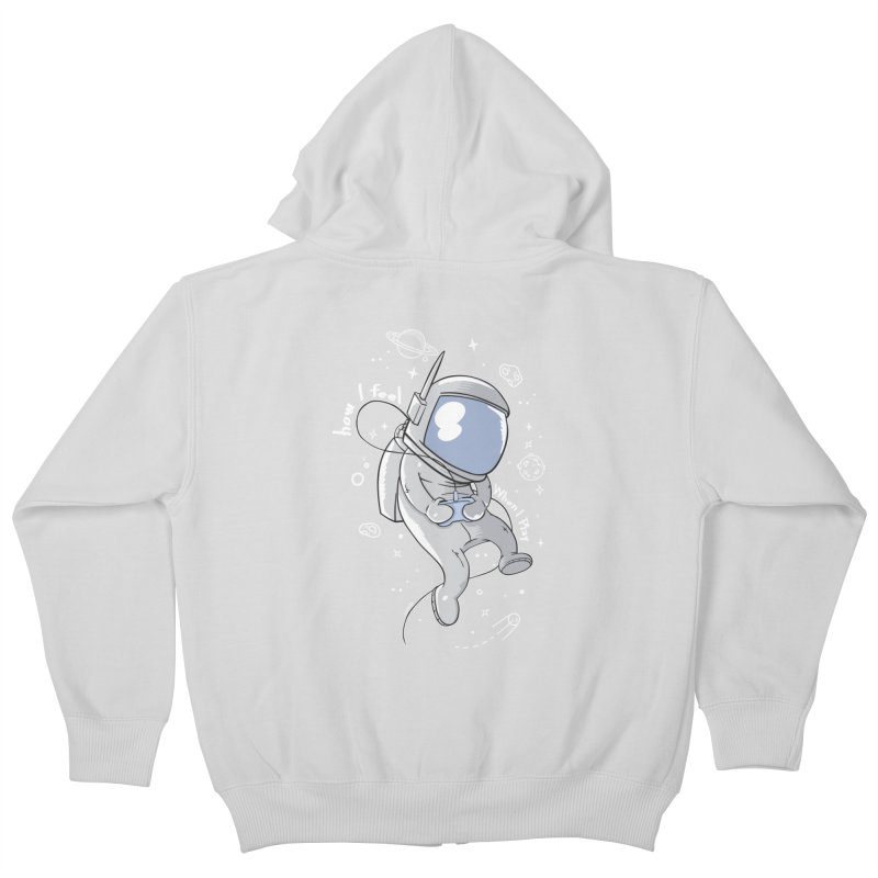 how I feel Kids Zip-Up Hoody by torquatto's Artist Shop