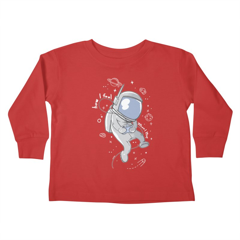 how I feel Kids Toddler Longsleeve T-Shirt by torquatto's Artist Shop