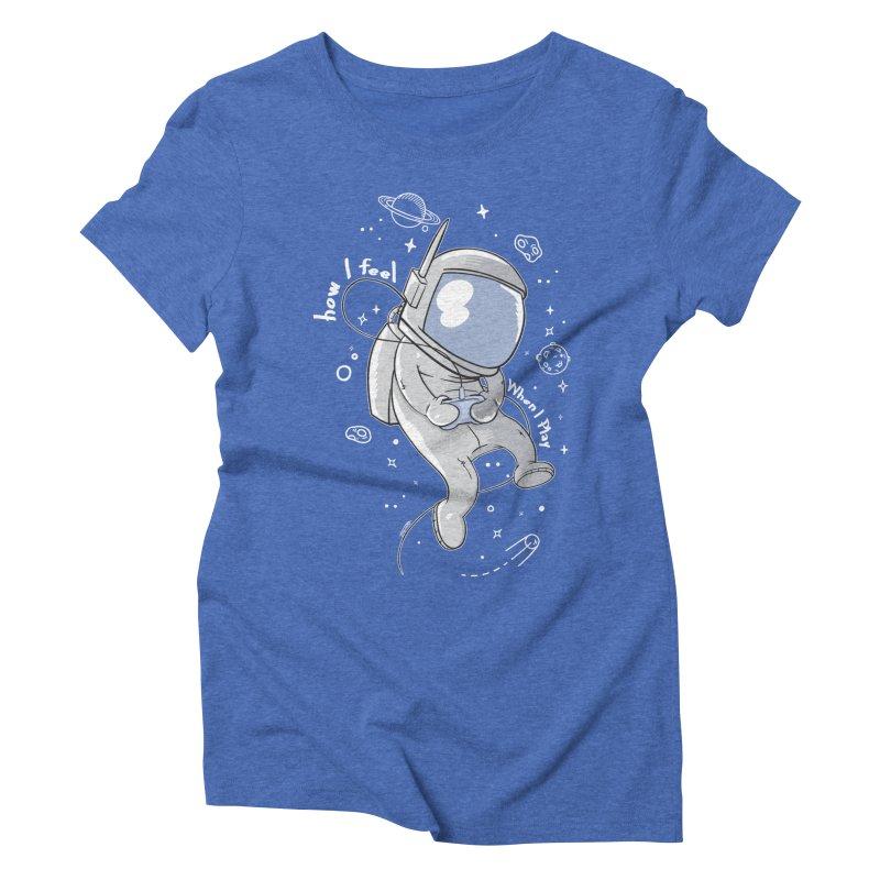 how I feel Women's Triblend T-Shirt by torquatto's Artist Shop