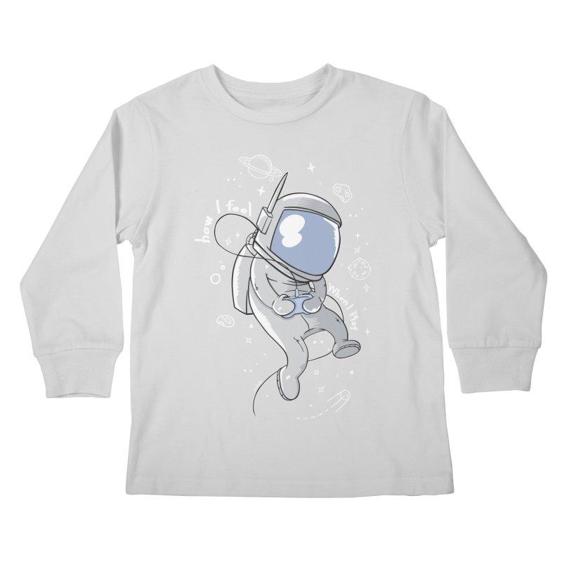 how I feel Kids Longsleeve T-Shirt by torquatto's Artist Shop