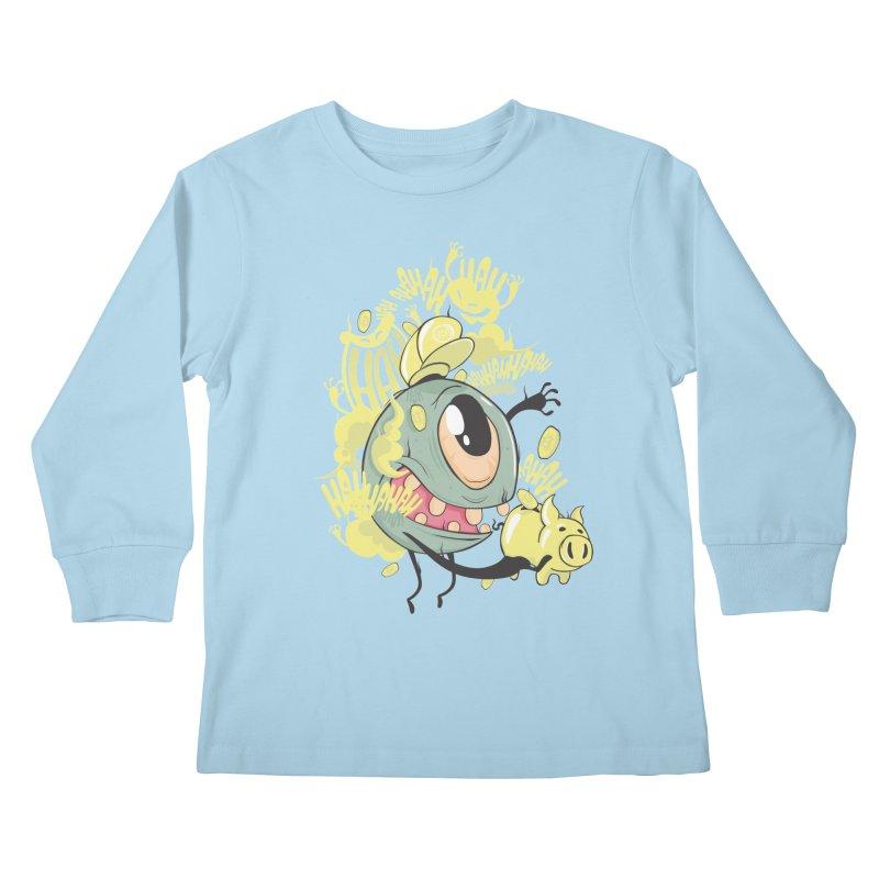 Zeddy boy coins Kids Longsleeve T-Shirt by torquatto's Artist Shop