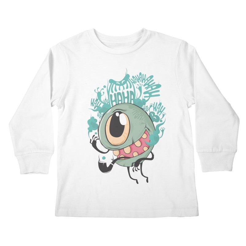 Zeedy boy smoke Kids Longsleeve T-Shirt by torquatto's Artist Shop