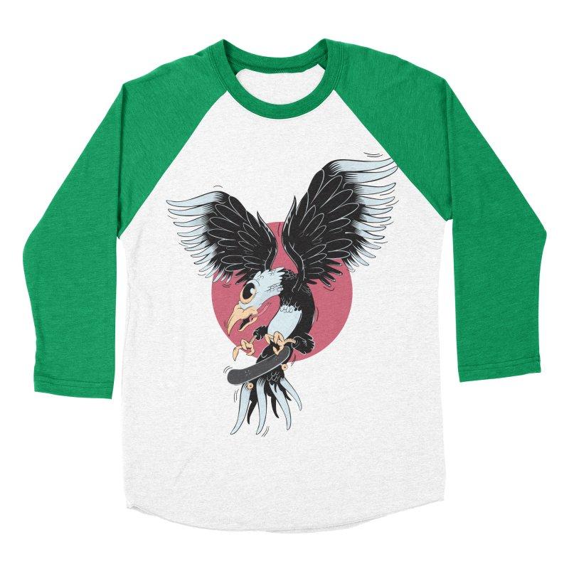 Old school skateboard Women's Baseball Triblend T-Shirt by torquatto's Artist Shop