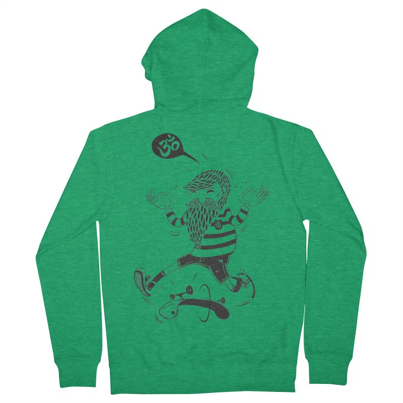 Skate zen Men's Zip-Up Hoody by torquatto's Artist Shop
