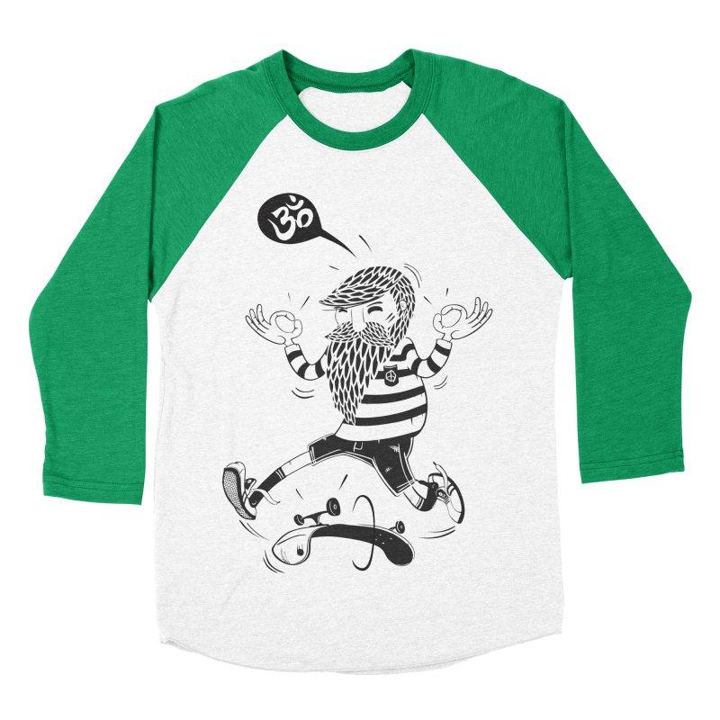 Skate zen Women's Baseball Triblend Longsleeve T-Shirt by torquatto's Artist Shop
