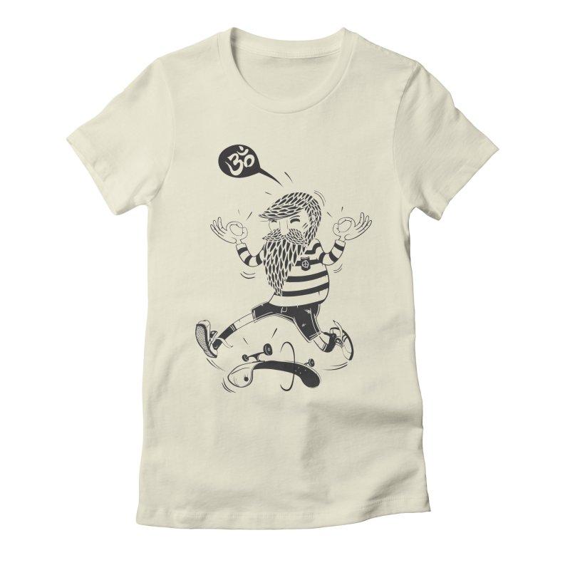 Skate zen Women's Fitted T-Shirt by torquatto's Artist Shop