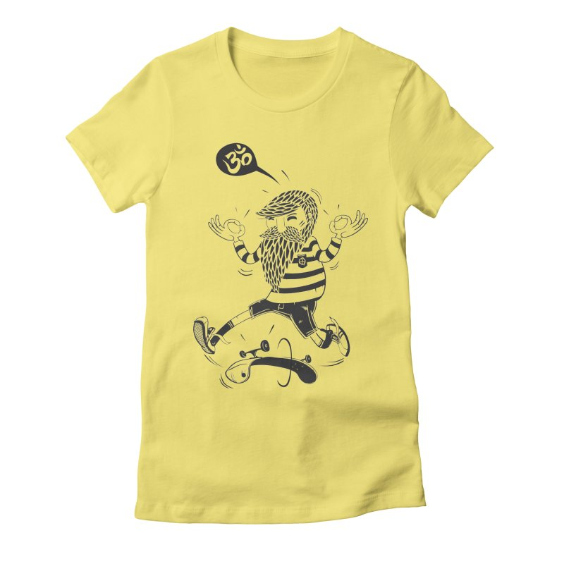 Skate zen Women's Fitted T-Shirt by torquatto's Artist Shop