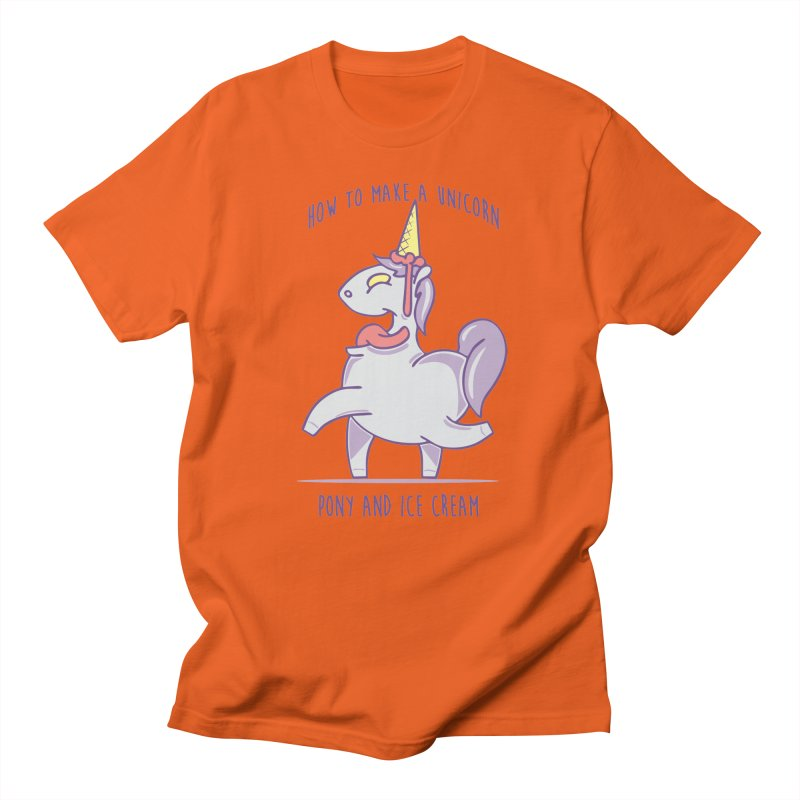 pony and ice Men's T-shirt by torquatto's Artist Shop