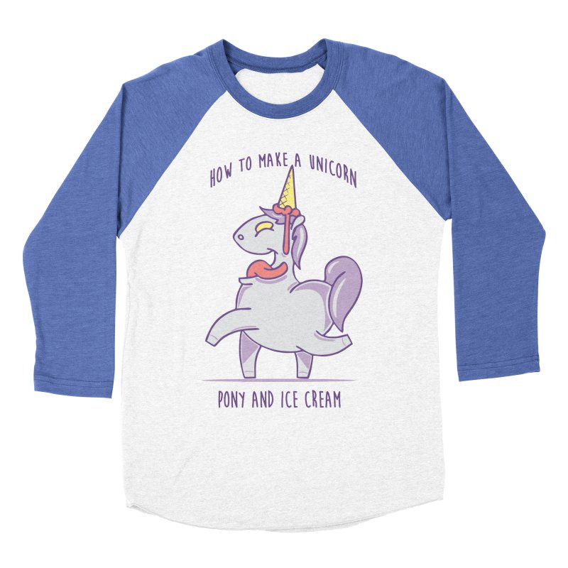 pony and ice Men's Baseball Triblend T-Shirt by torquatto's Artist Shop