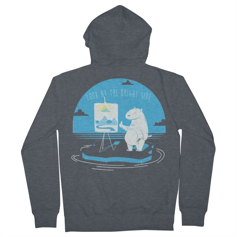 bright side Men's French Terry Zip-Up Hoody by torquatto's Artist Shop