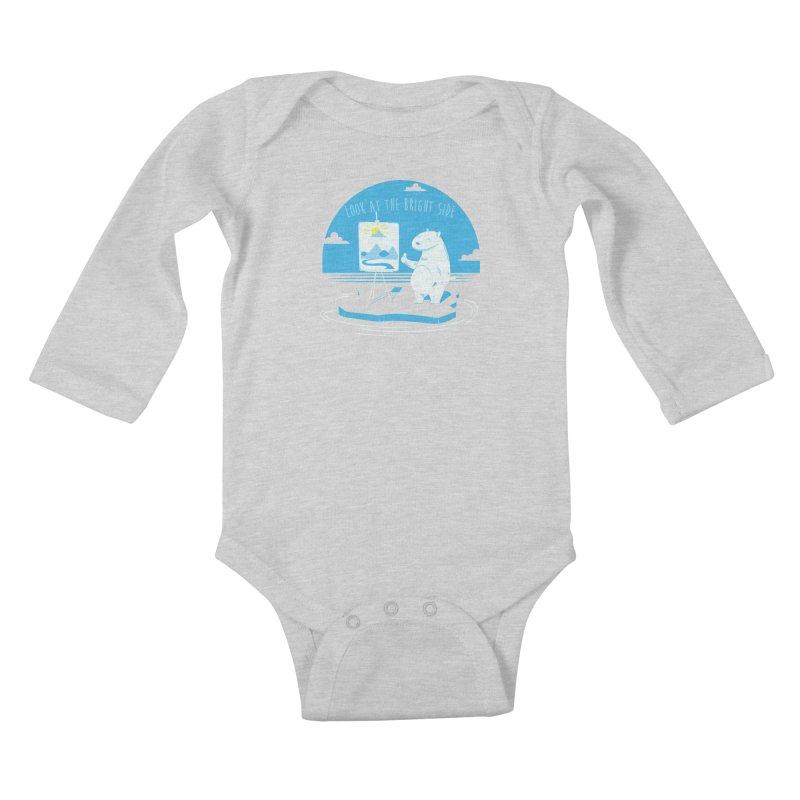 bright side Kids Baby Longsleeve Bodysuit by torquatto's Artist Shop