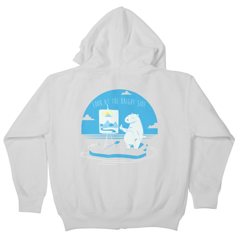 bright side Kids Zip-Up Hoody by torquatto's Artist Shop