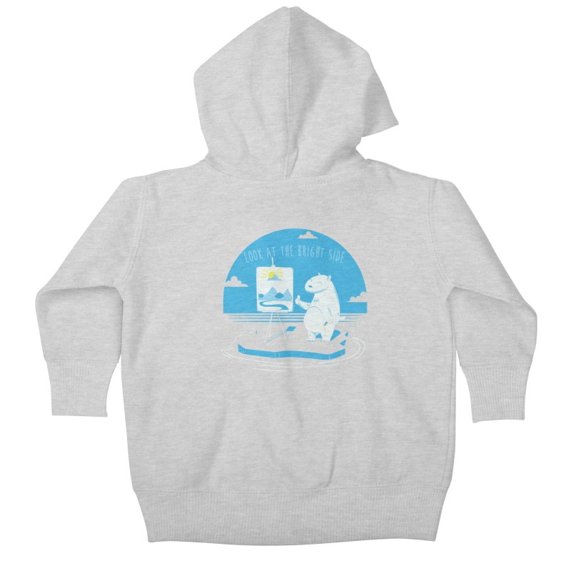bright side Kids Baby Zip-Up Hoody by torquatto's Artist Shop